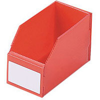 Twin Walled Small Part Storage Polypropylene Bins HxWxL 100x75x150mm Red Pack of 50