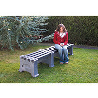 2 Person Backless Bench Pale Granite L1850mm