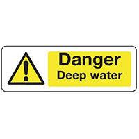 Sign Danger Deep Water 300X100 Vinyl