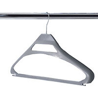 Coat Hangers Conventional Silver Plastic Pack of 20