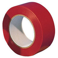 Tape  Lane Marking 6 Rolls Of Red 50mm Widex33M Long