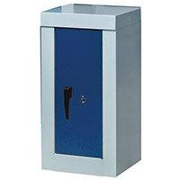 Cupboard -Security 900X450X450 2 Shelves Grey With Blue Door