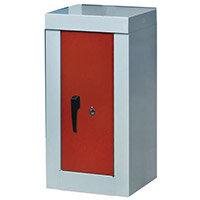 Cupboard -Security 900X450X450 2 Shelves Grey With Red Door
