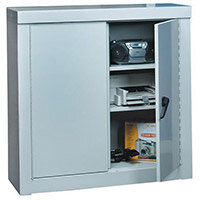 Cupboard Security 1200X900X450 2 Shelves All Grey Cabinet
