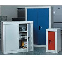 Cupboard Security1800X900X450 3 Shelves Grey With Blue Door