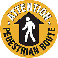 Pedestrain Route Floor Marker 430mm Dia