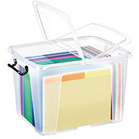Strata Smart Box 40L - Transparent Boxes with Secure Folding Lids