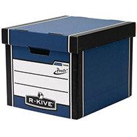 Premium Presto Tall Storage Box Blue HxWxD mm: 303x342x400