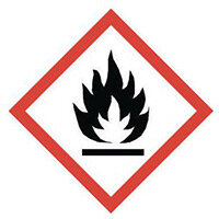 Sign Flammable Vinyl Strip Of 20  HxW: 16x16