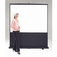 Leader Portable Floor Screen Video Format White Cloth Black Case Wxdxh: 70