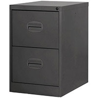 Filing Cabinet Kontrax Black Steel HxWxD: 711x458x622mm