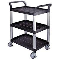 Standard 3 Shelf Service Cart Open Sided