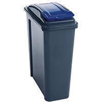 25 Litre Recycle Bin With Blue Lift Lid