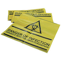 Clinical Waste Bags Self Seal Size 280 x 190mm Pack 50
