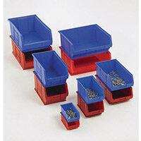 Topstore Containers  Tc4 Red Pack Of 10