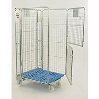 Four Sided Economy Nestable 'A' Framed Roll Container With Split Front Gate An