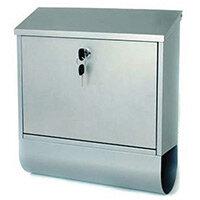 Post Box Tees Silver Steel HxWxD(mm): 410x365x110