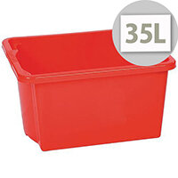 Stack & Store Box 35L Red - Lightweight stack and nest box - Without Lid