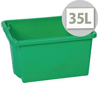 Stack & Store Box 35L Green - Lightweight stack and nest box - Without Lid