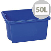 Stack & Store Box 50L Blue - Lightweight stack and nest box - Without Lid