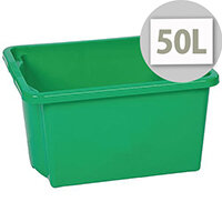 Stack & Store Box 50L Green - Lightweight stack and nest box - Without Lid