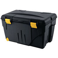 Trafic Box 200L. Dim. 848X610X515 Hinged Lid For Secured Closing. 2 Rollers.