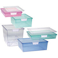 Tray  A4 Deep Tinted Blue 157x312x425mm-Pack Of 10