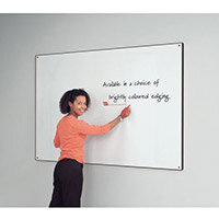 Black Write-On Coloured Edged Whiteboard 620x920