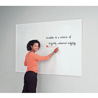 White Write-On Coloured Edged Whiteboard 1220x1520