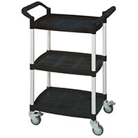 Mini 3 Shelf Service Cart Black