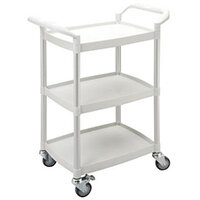 Mini 3 Shelf Service Cart White