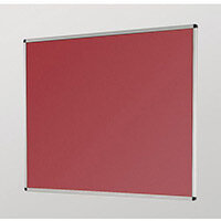 Aluminium Framed Noticeboards 450X600 Burgundy Board