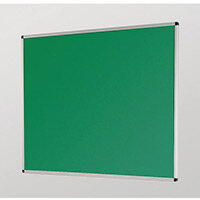 Aluminium Framed Noticeboards 450X600 Green Board