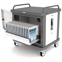 Tabstore Secure Charge Trolley For Up To 20 Tablet Devices  Light Grey/Black