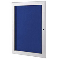 A4 Lockable Outdoor Pin Board With Blue Felt