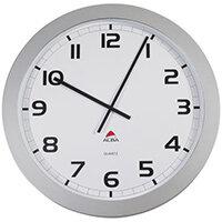 Extra Large 60cm Diameter Silent Quartz Wall Clock Silver