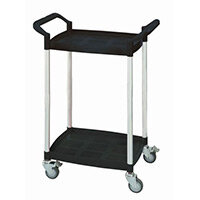 Mini 2 Shelf Service Cart Black