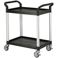 Standard 2 Shelf Service Cart Open Sided Cart
