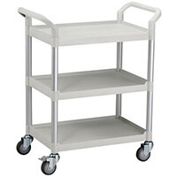 Standard 3 Shelf Service Cart Open Sided Cart