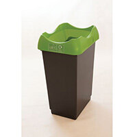 50 Litre Reycling Bin With Grey Body Lime Lid & Graphic