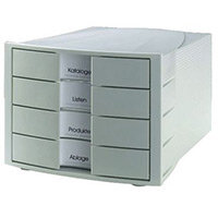 Han Impulse 4xClosed A4 Drawers Grey/Grey