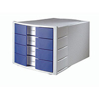 Han Impulse 4xClosed A4 Drawers Grey/Blue