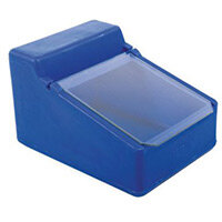 Table Top Storage And Dispense Container With Clear Flap Blue