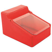 Table Top Storage And Dispense Container With Clear Flap Red