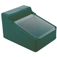 Table Top Storage And Dispense Container With Clear Flap Green