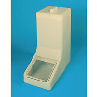 Table Top Storage And Dispense Container Complete With Top Lid And Flap. Fill From The Top Yellow