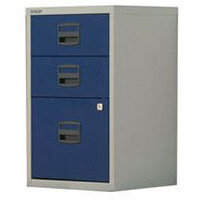 Bisley Pfa Home Filer 1xFiling 2xStationery Drawers Grey & Blue
