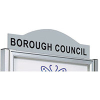 Steel Header Panel For Anodised Tradition Notice Board W 550  Painted Ral 9006 Grey