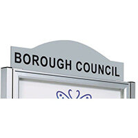 Steel Header Panel For Anodised Classic Notice Board W 1000  Painted Ral 9006 Grey