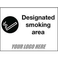 Sign Designated Smoking Area 800X600mm 4mm Correx